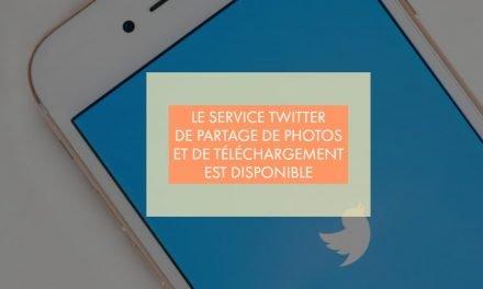 Le service Twitter de partage de photos et de téléchargement est disponible