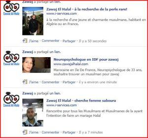 Les célibataires musulmans sur Facebook