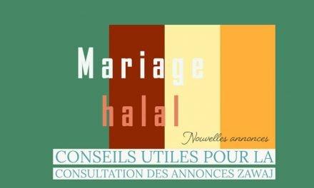 3 annonces de mariage halal