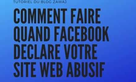 Site internet bloquée auprès par Facebook-comment faire ?