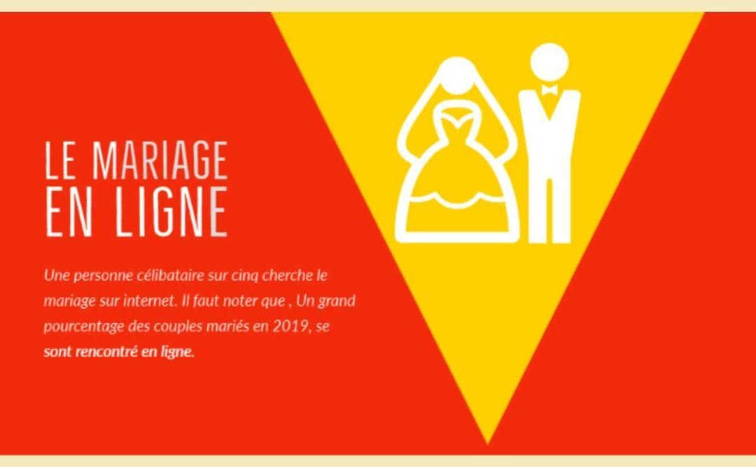 Le mariage en ligne est en constante augmentation